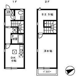 クリオネハウス[2階]の間取り