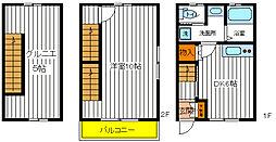 [テラスハウス] 東京都立川市栄町3丁目 の賃貸【東京都 / 立川市】の間取り