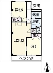 クレストール33[3階]の間取り