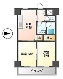 西一ビル[6階]の間取り
