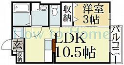 レーベングロースK B棟[2階]の間取り