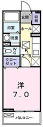 東京都青梅市大門1丁目の賃貸アパートの間取り