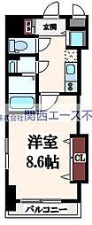 Luxe玉造II[5階]の間取り