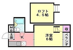 ハイツ正覚寺[410号室]の間取り