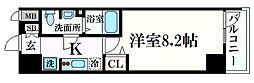 アドバンス神戸グルーブII 9階1Kの間取り