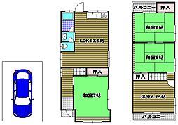 [一戸建] 大阪府河内長野市寿町 の賃貸【/】の間取り