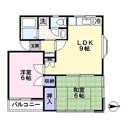 ユートピア石田[2階]の間取り