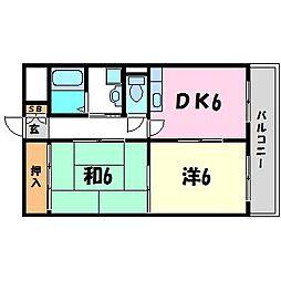 シードI[3階]の間取り