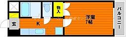 JR山陽本線 岡山駅 バス20分 バス平津橋下車 徒歩4分の賃貸マンション 2階1Kの間取り
