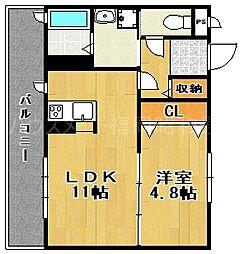 シャーメゾン今川[2階]の間取り