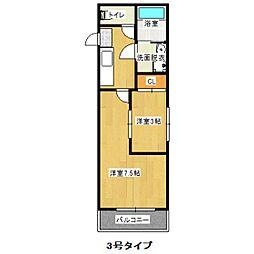 福岡県福岡市西区愛宕南1丁目の賃貸アパートの間取り