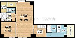 アンビション安堂寺[2階]の間取り