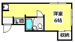 大阪府茨木市戸伏町の賃貸アパートの間取り