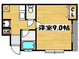 メゾンド大博[2階]の間取り
