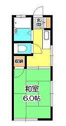 柴田コーポ[1階]の間取り
