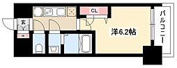 メイクス矢場町 8階1Kの間取り