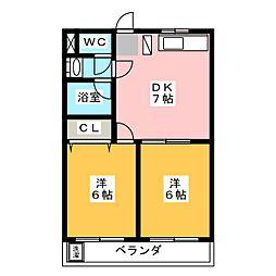にしき今泉新町ハイツI[3階]の間取り