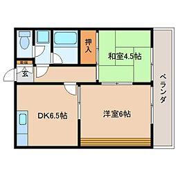 静岡県静岡市駿河区曲金4丁目の賃貸マンションの間取り