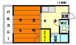 ピナクル唐原[1階]の間取り