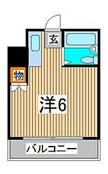 埼玉県さいたま市南区鹿手袋4の賃貸マンションの間取り