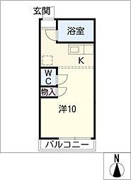 グリーン シャトー[2階]の間取り