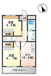 プロニティ[2階]の間取り