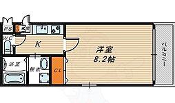 Osaka Metro今里筋線 新森古市駅 徒歩3分の賃貸マンション 2階1Kの間取り