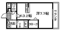 アンプルールユートピア[103号室]の間取り