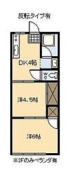 高洲コーポ (恒久)[102号室]の間取り