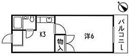 シャンテ長束[1階]の間取り
