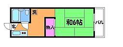 ハイムYTYII[1階]の間取り