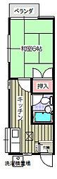 横須賀中央駅 徒歩16分2階Fの間取り画像