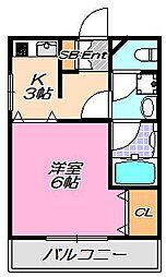 兵庫県神戸市灘区大石北町の賃貸マンションの間取り