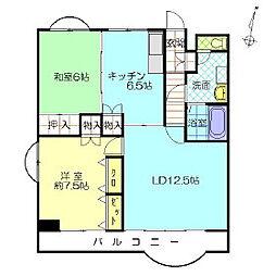 ガーデンハイム狭山B棟[2階]の間取り