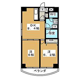 K−1二日町[7階]の間取り