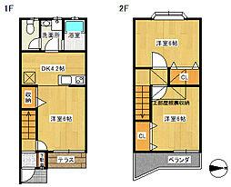 [テラスハウス] 神奈川県厚木市水引2丁目 の賃貸【/】の間取り