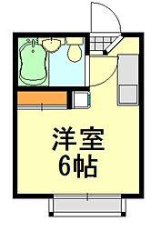 グリーンハウス[103号室]の間取り