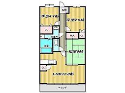 兵庫県神戸市垂水区桃山台7丁目の賃貸マンションの間取り