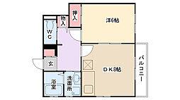 山本邸[2階]の間取り