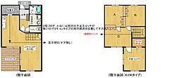 [テラスハウス] 福岡県福岡市南区井尻4丁目 の賃貸【/】の間取り