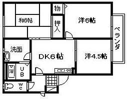 クーミーハウス岸和田 B棟[205号室]の間取り