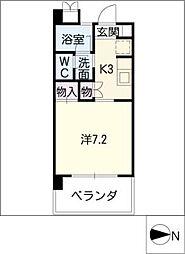 リバーガーデン浅井[1階]の間取り