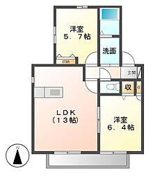 ソレイユ前田[2階]の間取り
