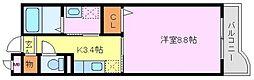 ルーブル・ベル[3階]の間取り