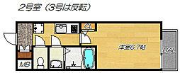 大阪府東大阪市徳庵本町の賃貸マンションの間取り