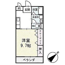 サンハイム永新B棟 1階[102号室]の間取り