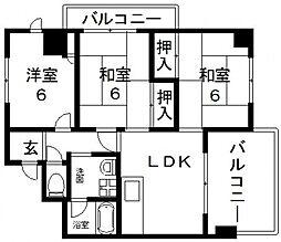 オーナーズマンション若江[601号室号室]の間取り