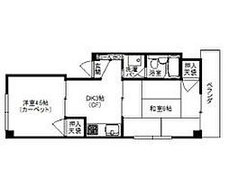 八島マンション[202号室]の間取り