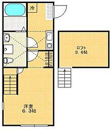 リニアハウス[2階]の間取り