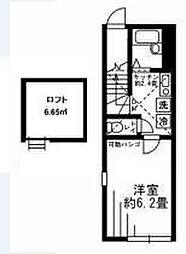 プランタン千川[2階]の間取り